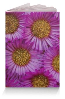 """Обложка для паспорта """"Астры"""" - цветы, цветок, розовый, желтый, природа"""