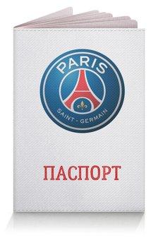 "Обложка для паспорта ""Логотип ПСЖ"" - футбол, париж, псж, пари сен-жермен, psg"