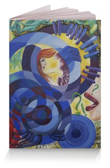 "Обложка для паспорта ""Весна притяжений"" - руки, весна, абстракция, круги"