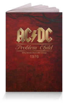 "Обложка для паспорта ""AC/DC"" - music, rock, кумиры, паспорт, асдс"