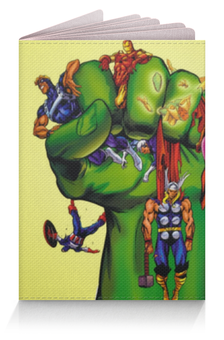 """Обложка для паспорта """"Халк (Hulk)"""" - железный человек, iron man, капитан америка, тор, captain america"""