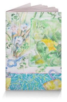 """Обложка для паспорта """"Ключи. Лето-Осень"""" - цветок, коллаж, яркий, оригинальный, акварель"""