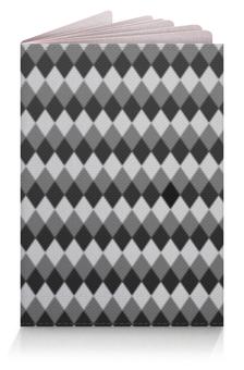 """Обложка для паспорта """"Три оттенка серого"""" - узор, серый, геометрия, ромб, фон"""
