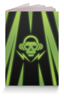 "Обложка для паспорта ""Skull"" - skull, music, dubstep"