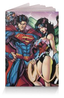 "Обложка для паспорта ""Супергерои"" - супермен, batman, бэтмен, чудо-женщина, аквамен"