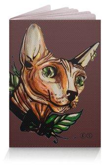 "Обложка для паспорта ""mr. Cox 2"" - кот, олд скул, tm kiseleva, forever young"