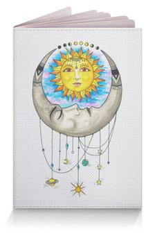 "Обложка для паспорта ""Луна и Солнце"" - солнце, sun, луна, moon"