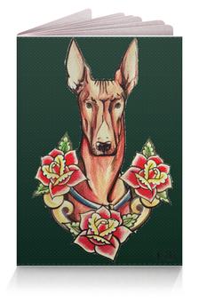 "Обложка для паспорта ""Фараонова собака (green)"" - пес, green, oldschool, tm kiseleva"