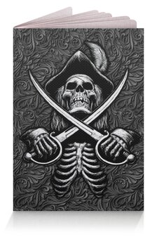 """Обложка для паспорта """"Black Sails Design"""" - череп, символика, черные паруса, джолли роджер, питраты"""