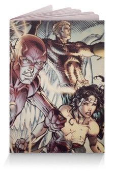 """Обложка для паспорта """"Супергерои Комиксов"""" - flash, молния, чудо женщина"""