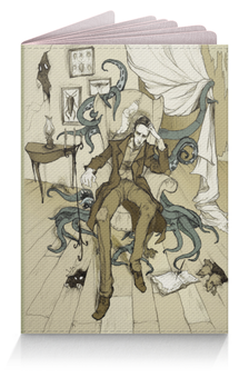 "Обложка для паспорта ""Howard Lovecraft"" - ктулху, cthulhu, лавкрафт, lovecraft, howardlovecraft"