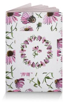 """Обложка для паспорта """"Цветок розовой эхинацеи"""" - рисунок, природа, эхинацея, цветок, иллюстрация"""