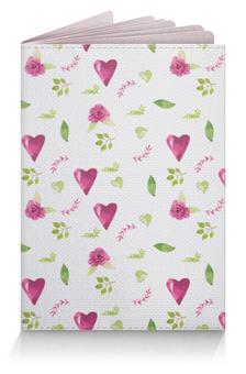 """Обложка для паспорта """"Любовь"""" - 14 февраля, роза, розовый, день влюбленных"""