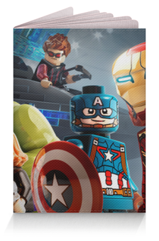 """Обложка для паспорта """"Мстители (Avengers)"""" - лего, lego"""