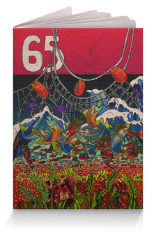 """Обложка для паспорта """"Сахалин. Рождение и смерть лосося"""" - рыбалка, сахалин, лосось, sakhalin, 65 регион"""
