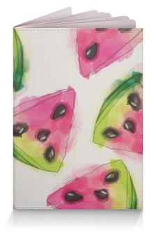 """Обложка для паспорта """"Арбуз акварель"""" - лето, фрукты, арбуз, акварель, watercolor"""