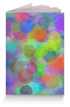 """Обложка для паспорта """"Орнамент Разноцветные стразы"""" - орнамент, подарок, абстракция, геометрия"""