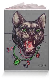 """Обложка для паспорта """"пантера"""" - кошка, пантера, tm kiseleva"""