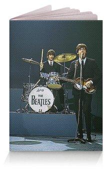 """Обложка для паспорта """"МУЗЫКА. BEATLES"""" - арт, фото, рок-группа, стиль надпись логотип яркость"""