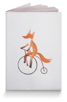 """Обложка для паспорта """"Funny Fox"""" - лис"""