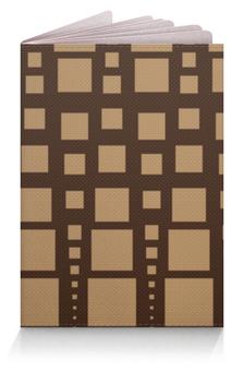 """Обложка для паспорта """"Геометрия"""" - фигура, треугольник, квадрат, геометрия, коричневый"""