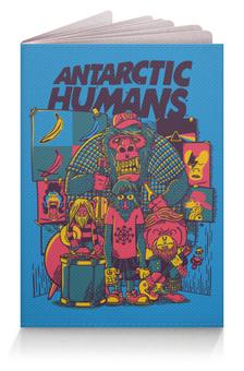 """Обложка для паспорта """"Antarctic Humans"""" - обезьяна, рок музыка, рок группа, арт прикол, antarctic monkeys"""