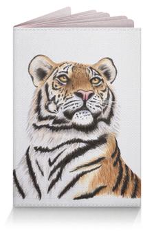 """Обложка для паспорта """"Взгляд тигра"""" - хищник, животные, взгляд, тигр, зверь"""