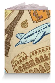 """Обложка для паспорта """"Путешественника"""" - рисунок, города, туризм, достопримечательности, виза"""