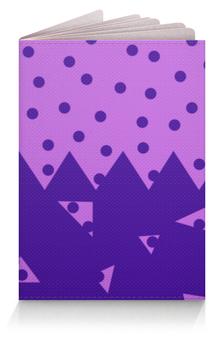 """Обложка для паспорта """"Падающие треугольники"""" - сиреневый, фиолетовый, треугольник, горох, половина"""