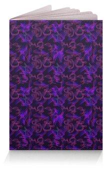 """Обложка для паспорта """"Обложка Обложка Dark violet pattern"""" - паттерн, фиолетовые, линии, сиреневые"""