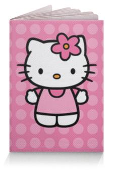 """Обложка для паспорта """"Kitty в горошек"""" - hello kitty, для детей, привет китти, мультик, мультфильм"""