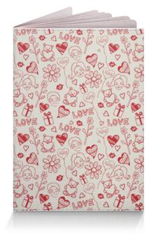 """Обложка для паспорта """"Любовь (Love)"""" - сердца, сердечки, мило"""