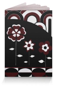 """Обложка для паспорта """"Бордо"""" - цветы, графика, подарок, бордо"""