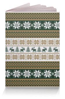 """Обложка для паспорта """"Скандинавский узор"""" - узор, зима, орнамент, олень, снежинка"""