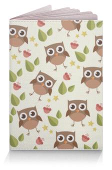 """Обложка для паспорта """"Совушки, совы, owl"""" - совы, совушка, owl, паттерн, иллюстрация"""