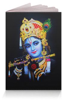 """Обложка для паспорта """"Krishna (Кришна)"""" - кришна, харе кришна, krishna, hare krishna, кришна с флейтой"""