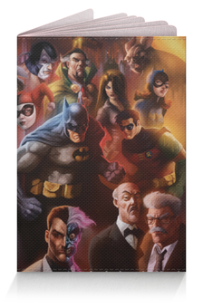 """Обложка для паспорта """"Batman/Бэтмен"""" - арт, batman, бэтмен, темный рыцарь, dc comics"""