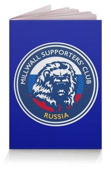 "Обложка для паспорта ""Millwall MSC Russia passport"" - millwall, millwallfc, миллуолл, russian lions"