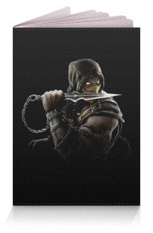 """Обложка для паспорта """"Mortal Kombat (Scorpion)"""" - воин, боец, скорпион, mortal kombat, scorpion"""