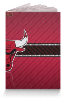 """Обложка для паспорта """"Чикаго Буллз"""" - бык, чикаго буллз"""