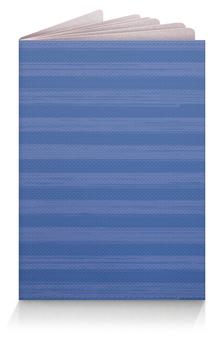 """Обложка для паспорта """"В полоску"""" - полоска, голубой, синий, неровный"""