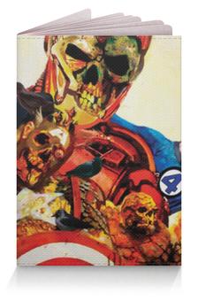 """Обложка для паспорта """"Супергерои Зомби"""" - zombie, существо, iron man, fantastic four"""