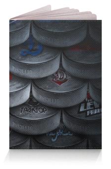 """Обложка для паспорта """"Хоккейные шайбы"""" - хоккей, ice hockey"""