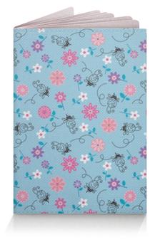 """Обложка для паспорта """"Цветочки"""" - цветы, узор, пчелка"""