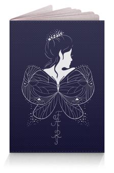 """Обложка для паспорта """"Красивая эльфийка с крыльями. Фэнтези иллюстрация"""" - бабочка, девушка, эльф, фея, сказка"""