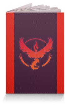 "Обложка для паспорта ""Pokemon go: Valor team"" - pokemon, покемоны, pokemon go, valor, valor team"