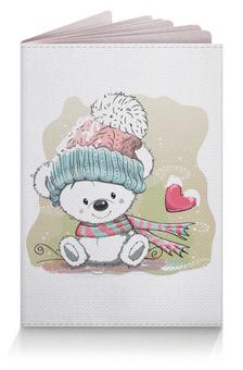"""Обложка для паспорта """"Медвежонок"""" - юмор, зима, рисунок, мультяшка, медвежонок"""