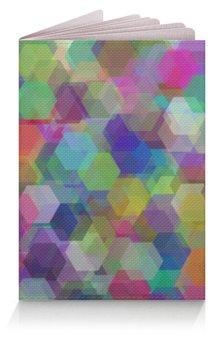 """Обложка для паспорта """"Цветные кристаллы (орнамент)"""" - орнамент, подарок, абстракция, геометрия"""