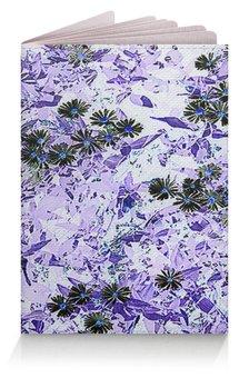 """Обложка для паспорта """"Цветник."""" - цветы, сиреневый, ромашки, лиловый, цветник"""