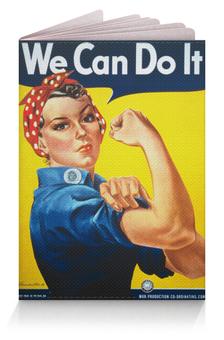 """Обложка для паспорта """"Американский плакат, 1943 г."""" - плакат, пропаганда, феминизм"""